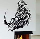 Sensenmann Charakter Vinyl Wandaufkleber Skelett Tod Horror