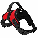 Creatwls Adjustable No-Pull Dog Harness with Handle, Oxford Material Pet Harness Dog Vest Harness Easy Control for Small Medium Large Dogs Comfortable Pet Vest Harness for Dogs