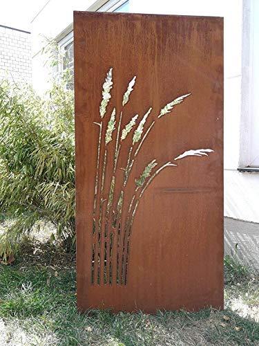 Zen Man Garten Edelrost SichtschutzWand rost aus Corten Stahl Garten Sichtschutz 2mm B75*H150cm 18,6kg 031912-2C