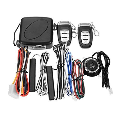 Yxwei Coche sin Llave de Entrada Motor de Entrada Sistema de Alarma Sistema de Alarma Pulsador Terreno Remoto Stop AUTOMO AUTOMO AUTOMÁTICO Alarma de ladrón de Bloqueo Central