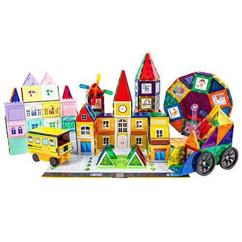 Picasso Tiles 300 Piece Master Builder Set Magnetic Early Educational Toy Building Block Kit w/ 3 in 1 Playboard For Kids Ages 3 and Up, Multicolor