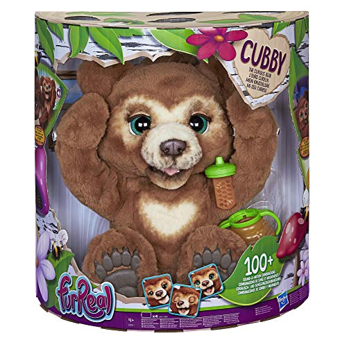 Hasbro furReal Cubby, mein Knuddelbär, interaktives Plüschtier, ab 4 Jahren, braun