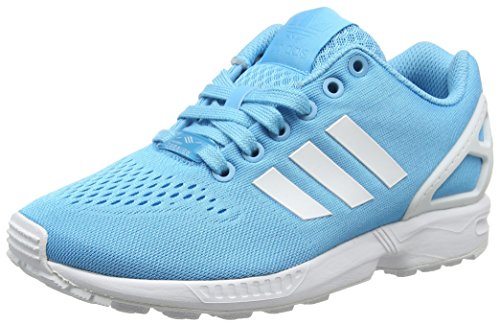 adidas ZX Flux Em, Zapatillas de Entrenamiento Unisex Adulto, Azul (Bright Cyan/FTWR White/Bright Cyan), 44 EU