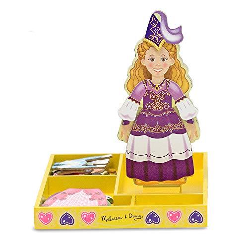 Mélissa & Doug - 3553 - Jouet en Bois - Garde Robe Magnétique Princesse