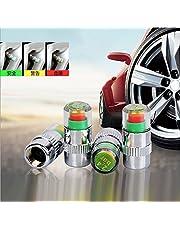 HGTP タイヤ空気圧監視 バルブキャップ センサー タイヤ空気圧測 タイヤ圧力モニター3色 危険アラート