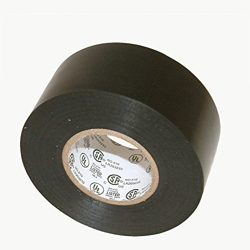 JVCC EL7566-AW Synthetic Rubber Electrical Tape, 1-1/2 in. x 66 ft. (36mm x 20m), Black