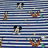 Disney Jersey Micky Maus, Donald, Goofy, Pluto, blau/weiss