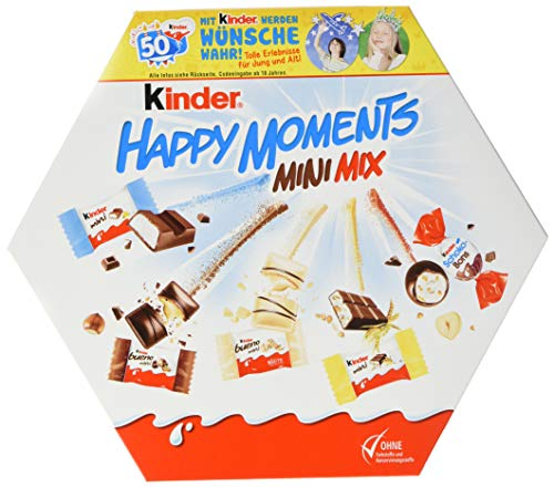 kinder Happy Moments Mini Mix Vorratspack, 12er Pack (12 x 162 g Packung)