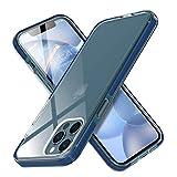 MATEPROX Ultra Sottile Cover per iPhone 12 PRO/iPhone 12 Custodia, Chiaro Duro PC, TPE Protettiva Bumper Antiurto Cover Custodia per iPhone 12 PRO/iPhone 12 6.1'-Blu