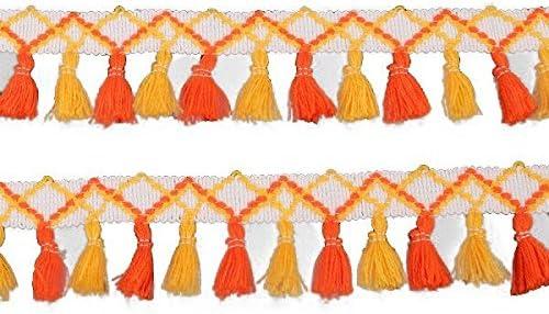 Yalulu 5 Yards Rainbow Cotton Tassel Ribbons Se Trim Fringe Lace Under blast sales Free shipping