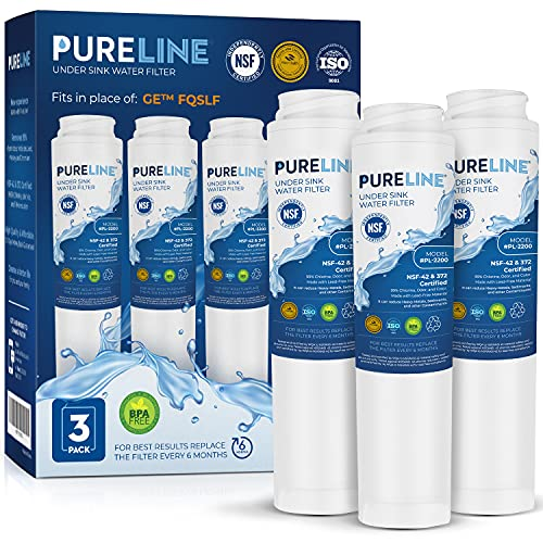 Pureline FQSLF Under Sink Water Filter Replacement. Compatible with GE...