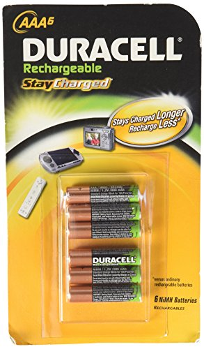 Duracell StayCharged piles LR03 rechargeables 800 mAh-Lot de 6