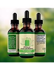 BTSEURY Chlorophyl Drops Vloeistof, 59ml Pure Chlorophyl Vloeibare Drops Met Glas Dropper 100% Natuurlijke Concentraat Energy Booster