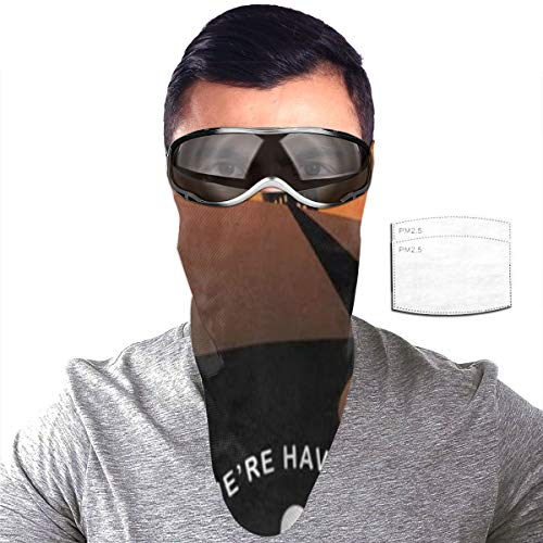 N\ A Half Bavaclava Face Mask Triangle Wind Dust Proof Masks with Filter Magic Tape Strap Full Ears Protection for Women Men Ski Motorcycle Cycling Bicycle -Alloween Witch Legs in Boots