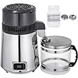 Mophorn Water Distillers Countertop Stainless Steel 4L 750W Digital Control Distilling Water Machine for Home with Handle ,Sliver…