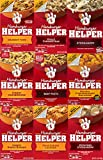 Hamburger Helper Variety Pack of 9-Crunchy Taco, Philly Cheesesteak, Stroganoff, Cheesy Hashbrowns,Beef Pasta, Double Cheeseburger Mac, Cheesy Ranch Burger, 4 Chs Lasagna (9 Pack)
