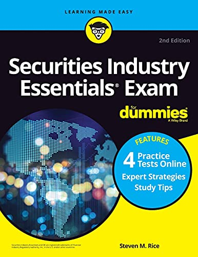 Compare Textbook Prices for Securities Industry Essentials Exam For Dummies with Online Practice Tests 2 Edition ISBN 9781119736516 by Rice, Steven M.