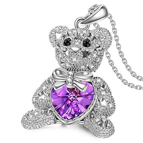 Susan Y Valentines Day Women Necklace, Bucci Bear Women Jewellery, Butterfly Crystals Necklaces, Elegant Jewellery Box, Gifts for Her Girls Lover Valentines