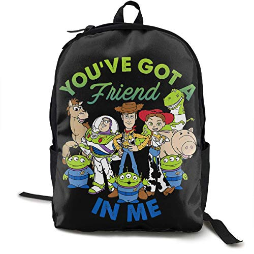 HuangYongHongPODFPO Pixar Toy Story Cartoon Printed Backpack Lightweight Shoulder Bag