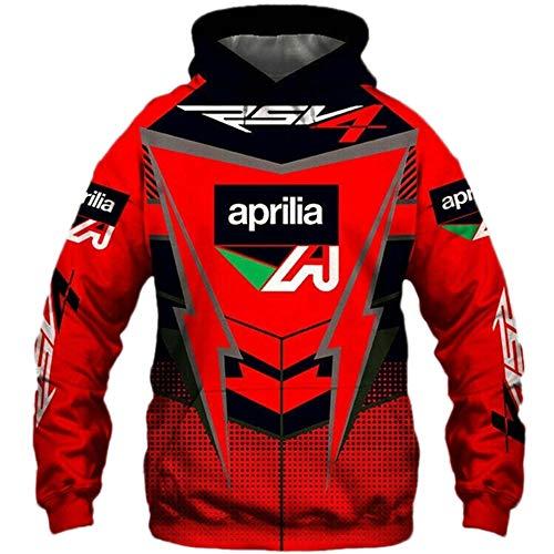 NISHUSHANW 3D Drucken Hoodies,Jacke Leicht Sweatshirt Zum Aprilia Unisex Herren Beiläufig Sportkleidung Draussen / A1 / S