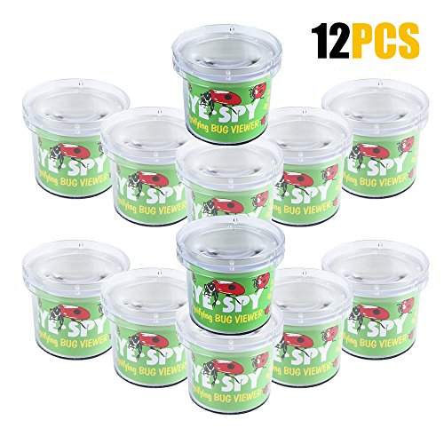 AlleTechPlus Critter Cage Magnifying Bug Reviewer Kid's Toy, Nature Exploration Toys Insect Magnifier Backyard Explorer (12 Packs)