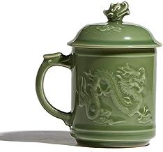 Pots Cups Ceramic Kung Fu Purple Clay Sets Old Mug Turgid High-grade Handmade Celadon Dragon Cup Ceramic Cup Office Cup LE...