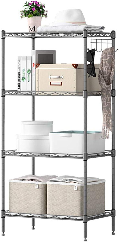 Shelf Floor Multi-Layer Storage Rack Finishing Storage Shelves (color   Silver)