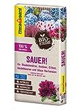 Floragard Bio-Erde Sauer 1x40 Liter - für Rhododendren, Heidelbeeren, Azaleen und blaue Hortensien - torfreduziert und bio