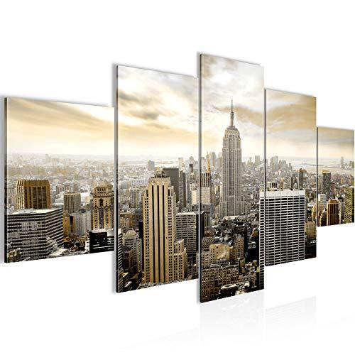 Quadri Moderni New York City 200 x 100 cm Soggiorno Grande Marrone Sala Da Pranzo 603451a