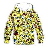 YOSSS 3D gedruckt Spongebob Hoodie Sweatshirt Pullover Casual Top Männer und Frauen