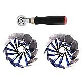 Parche De Reparación De Neumáticos, Kits De Herramientas De Reparación De Neumáticos Para Automóviles, Bicicletas (24 Piezas De Parches De Neumáticos + 1 Grapadora De Reparación De Neumáticos)