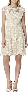 Tahari by ASL Women's Flutter Sleeve Lace Dress