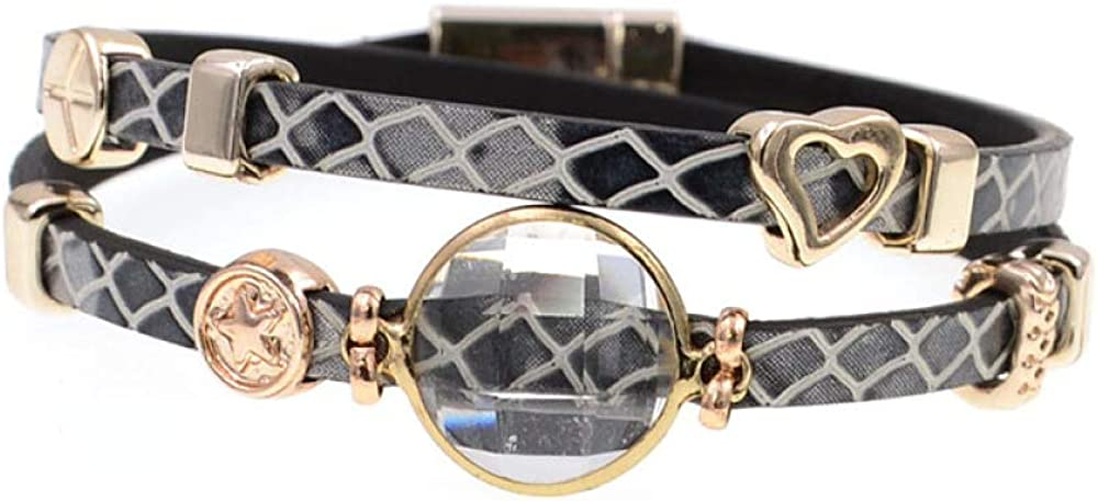 All stores are sold Excellent Leather Bracelets Crystal For Bohemian Charm
