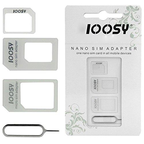Sut NOOSY nano sim micro estándar tarjeta adaptador convertidor para teléfono móvil