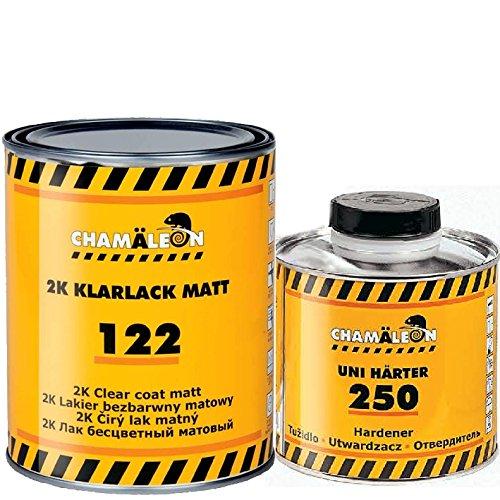 Chamäleon KLARLACK MATT 2:1 2K HS Kratzfest ACRYL Lack 1L + HÄRTER Fast SCHNELL 0,5L Clear Coat