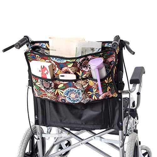 QEES Rollstuhltasche, strapazierfähig, Rollatortasche, faltbar, Walker-Zubehör, Rollstuhl-Zubehör GJB169