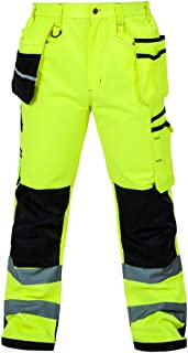 MUST WAY Multi Pocket Reflective Overalls with Knee Pads for Men and Women