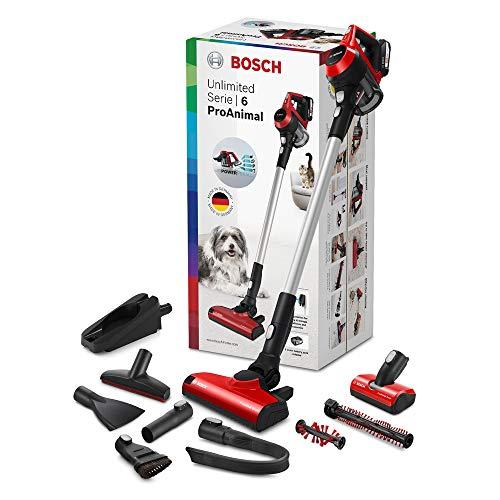 Bosch Unlimited ProAnimal Serie|6 Aspirador sin Cables, 2 Velocidades, Rojo