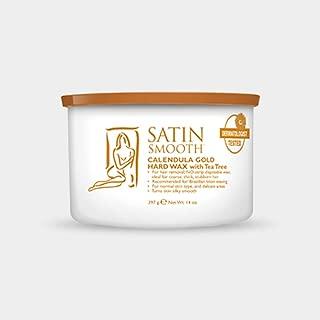 Satin Smooth Calendula Gold Hard Hair Removal Wax with Tea Tree Oil 14oz