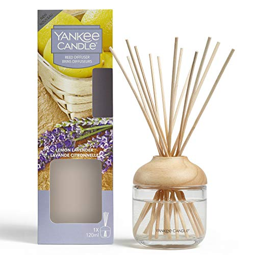 Yankee Candle Reed Diffuser   Lemon Lavender   120 ml   Up to 10 Weeks of Fragrance