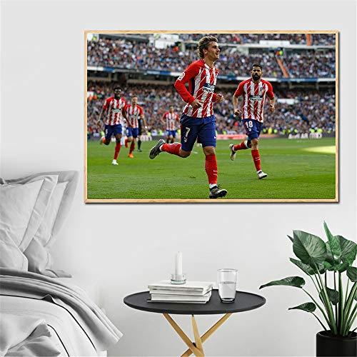 jzxjzx Antoine Griezmann Kreative Footabll Stars Französisch Fußballer Wandkunst Bilder Leinwand Malerei Dekoration Griezmann Poster