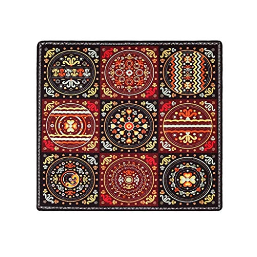 Sale!! CarPet Square Ethnic Style Fashion Non-Slip mat (Size : 100CM×100CM)