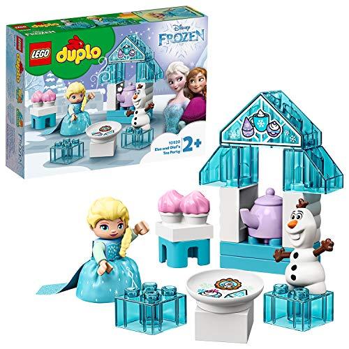 LEGO DUPLO Frozen II, Le goûter d'Elsa et Olaf, Grand ensemble de briques avec cupcakes et théière pour tout-petits de 2 ans et plus, 94 pièces,10920