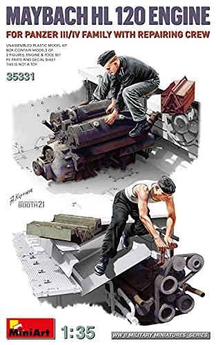 ミニアート 1/35 ドイツ軍 3号/4号戦車用 マイバッハ HL120エンジン 修理工兵付 プラモデル MA35331