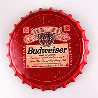 2but Budweiser Bottle Caps Metal Tin Signs Cafe Beer Bar Decoration Plat 13.8