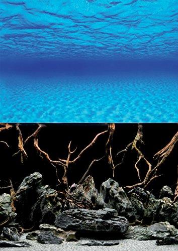 AMTRA MYSTIC, sfondo in poster per acquario, decorazione dell'acquario, poster decorativo con doppia stampa, formato 30x60cm
