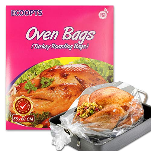 ECOOPTS - Bolsas de horno tamaño grande, para asar pavo, pollo, carne, jamón, pescado, verduras, etc. 10 bolsas (55 x 60 cm)…