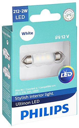 Philips 212-2WLED Ultinon LED Bulb (White), 1 Pack