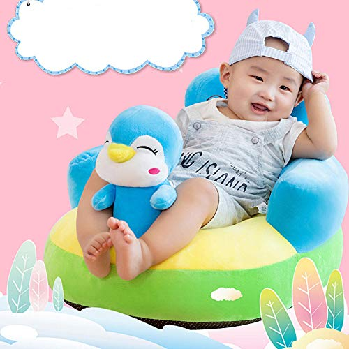 Buy Discount YSAGNZQ Infant Safe Sitting Chair, Comfortable Infant Soft Plush Floor Support Seat, Baby Learning to Sit Head Protect Chair with Stuffed Animal Toys,I