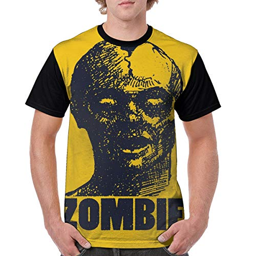 Man's T Shirts,Hand Drawn Stylized Dead Man Portrait in Grunge Sketch Graphic Image M